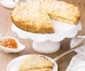 Drobenkový koláč s meruňkovým džemem (bez laktózy)