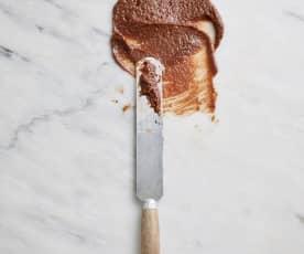 Cobertura de chocolate e avelã