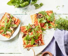 Low Carb Pizza mit Hähnchen
