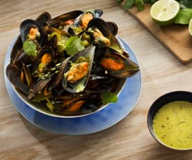 Mejillones en curry blanco - Sri Lanka