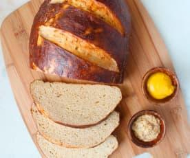 Sourdough Pretzel Bread