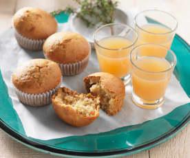 Vegane Birnen-Thymian-Muffins