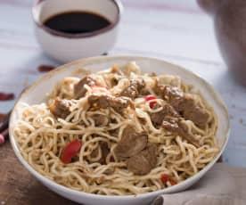 Noodles con ternera y setas (Blade runner)