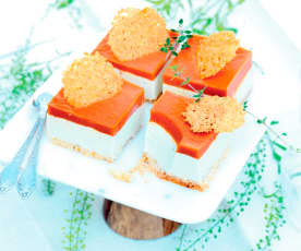 Cheesecake tomate-chèvre