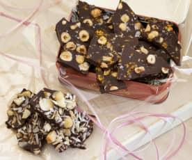 Raw chocolate snaps