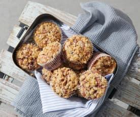 Muffins aux cerises et streusel
