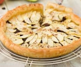 Tarta de manzana en hojaldre (Sin azúcar)