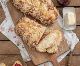 Pão doce de pequeno-almoço