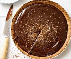 Tarte au chocolat, pâte à la farine de sarrasin