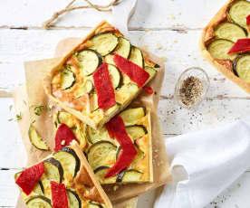 Paprika-Zucchini-Quiche
