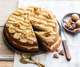 Gâteau au café et aux noix