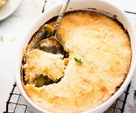 Pastel de patata y champiñón
