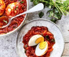 Mijoté indien aux œufs et à la tomate