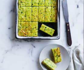 Zucchini and parsnip frittata fingers (6-9 months)
