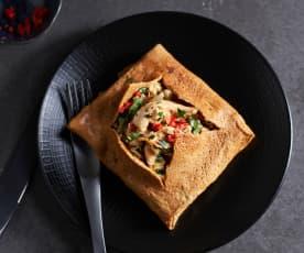 Omelet met kip op Thaise wijze