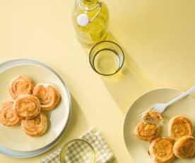 Caracolas de merluza y langostinos