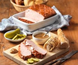 Bavarian meat loaf (Leberkäse)