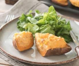 Batatas rellenas agridulces