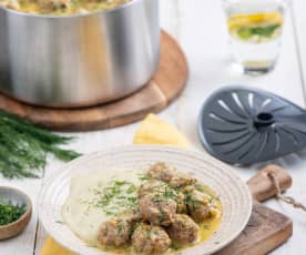 Turkey meatballs in dill sauce