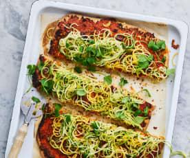 Vegan groentepizza