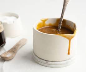 Salsa de caramelo al café