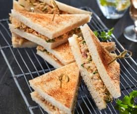 Puten-Bananen-Sandwich