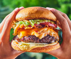"""Guy's Restaurant Reboot Mac """"n"""" Cheese Burger"""