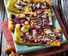 Spelt Flour Pizza with Chicory and Taleggio