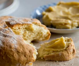 Damper with golden syrup butter