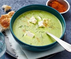 Zupa krem z pora z serem owczym