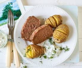 Biff a la Lindström mit schwedischen Kartoffeln