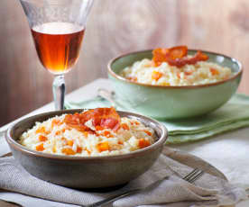 Risotto carote e bacon