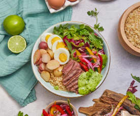 Peruvian Steak Bowl with Aji Verde