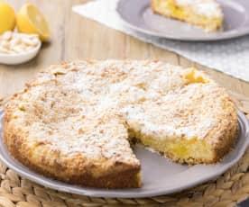 Mandlový drobenkový koláč s citrónovým krémem
