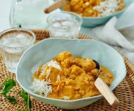 Linsen-Curry-Eintopf mit Hähnchen