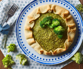 Quiche broccoli e pesto