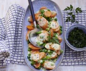 Karotten-Erbsen-Gemüse