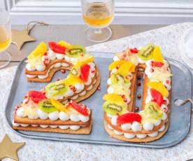 Number cake du Nouvel An