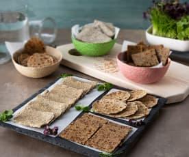 Tostas de pan esenio de 3 sabores