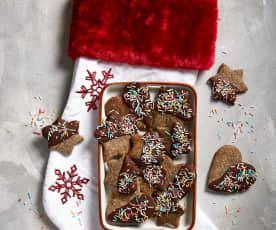 Biscottini ricoperti al cioccolato (senza glutine)