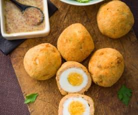 Huevos escoceses con salmón (Scotch eggs)