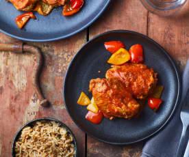 Pollo con sugo alla parprika a Cottura Lenta