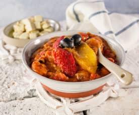 Peperonata mit Oliven