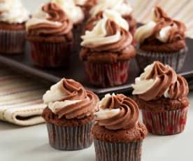 Mini muffin con frosting al mascarpone