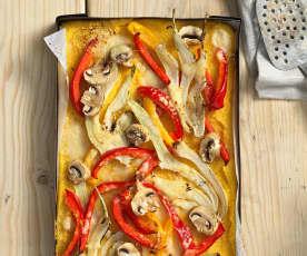 Polentaschnitten mit Gemüse