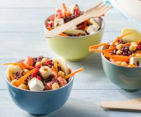 Mini poke bowls vegetarianos