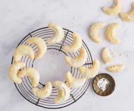 Petits croissants à la vanille