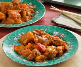 Costillas de cerdo fritas con salsa agridulce - China