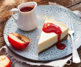Pflaumen-Cheesecake aus dem Varoma
