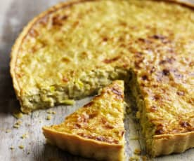 Leek and Lancashire Cheese Quiche